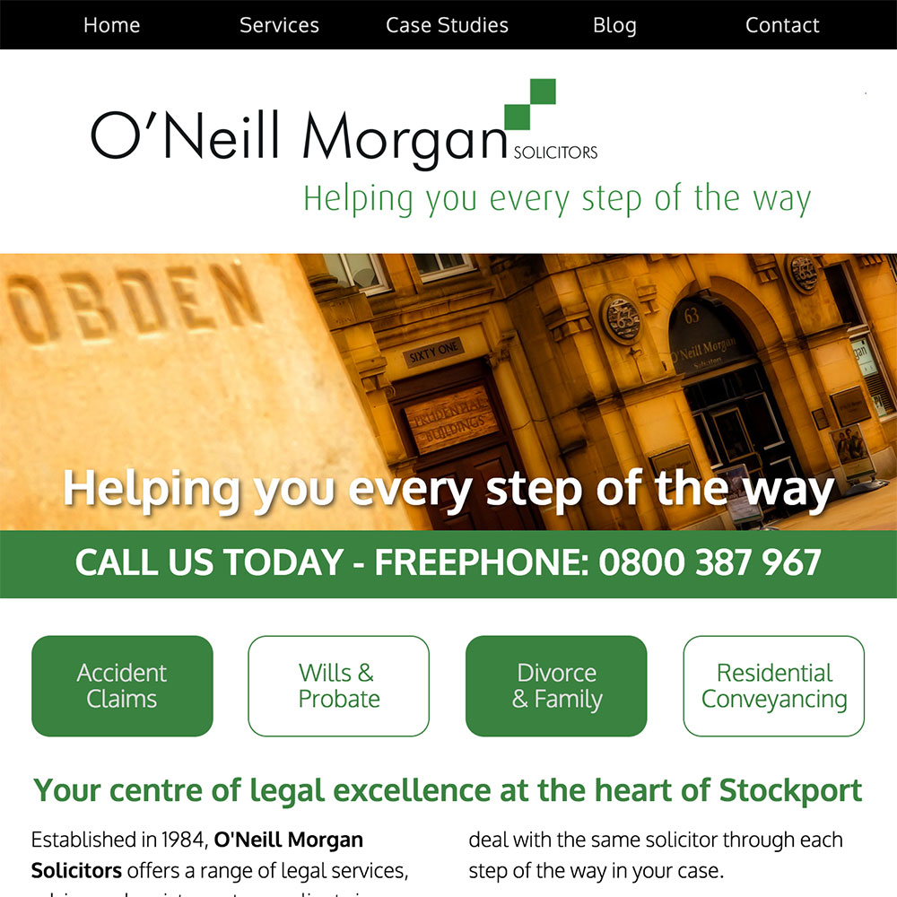 O'Neill Morgan Fully Responsive Website Design