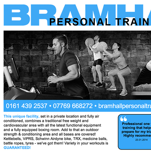 Personal Trainer Bramhall website design